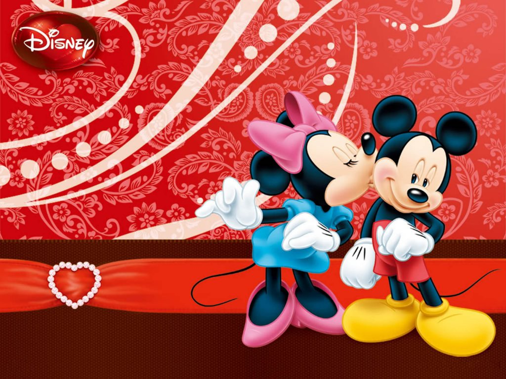 mickey mouse kisses