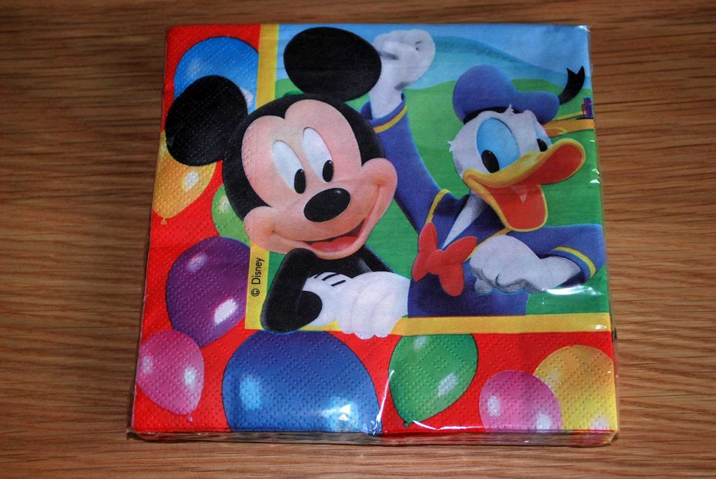 mickey mouse napkin