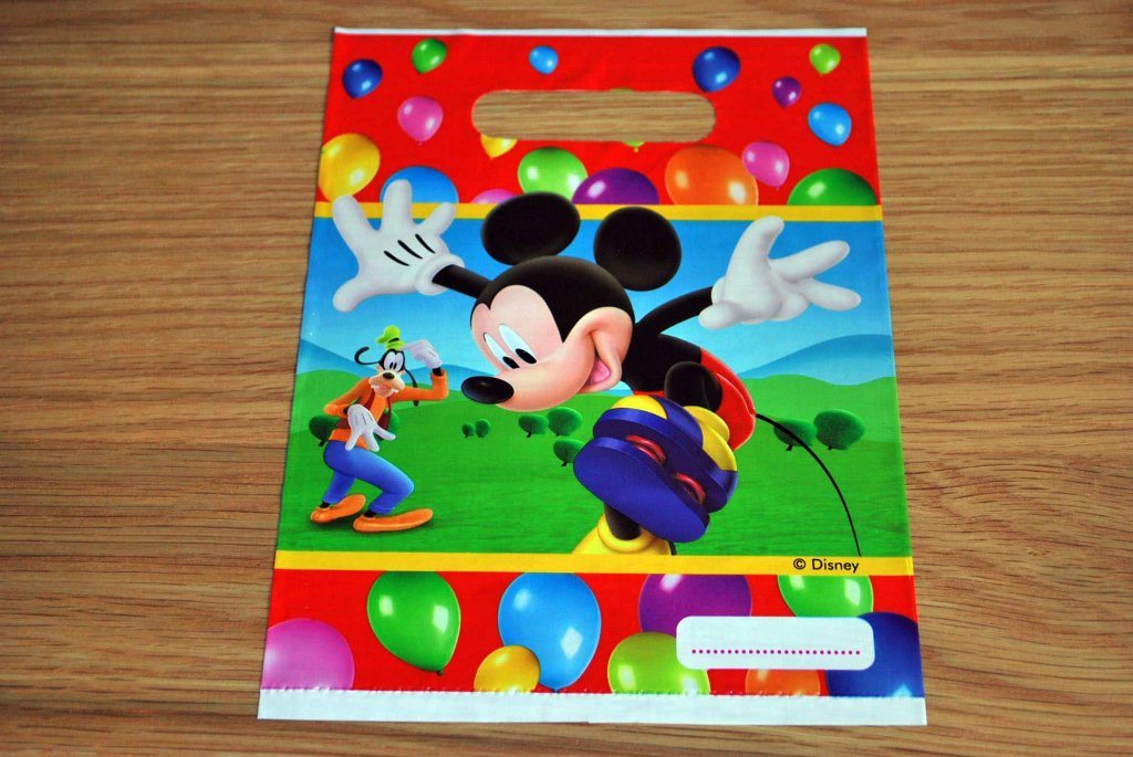 mickey mouse plastic-bag