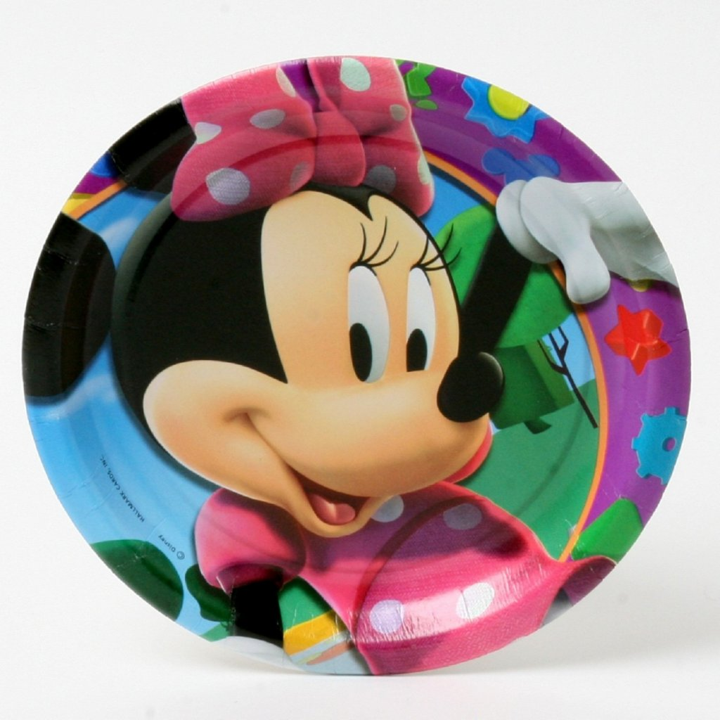 Minnie Mouse birthday plate