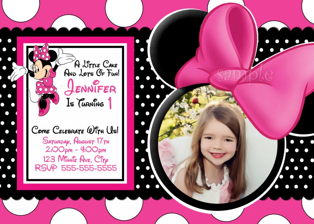 Minnie Mouse invitation card picture, Minnie Mouse invitation card ...