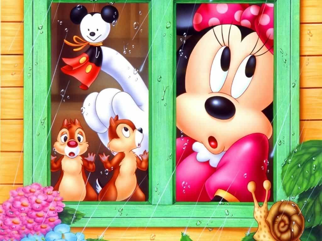 Minnie Mouse window