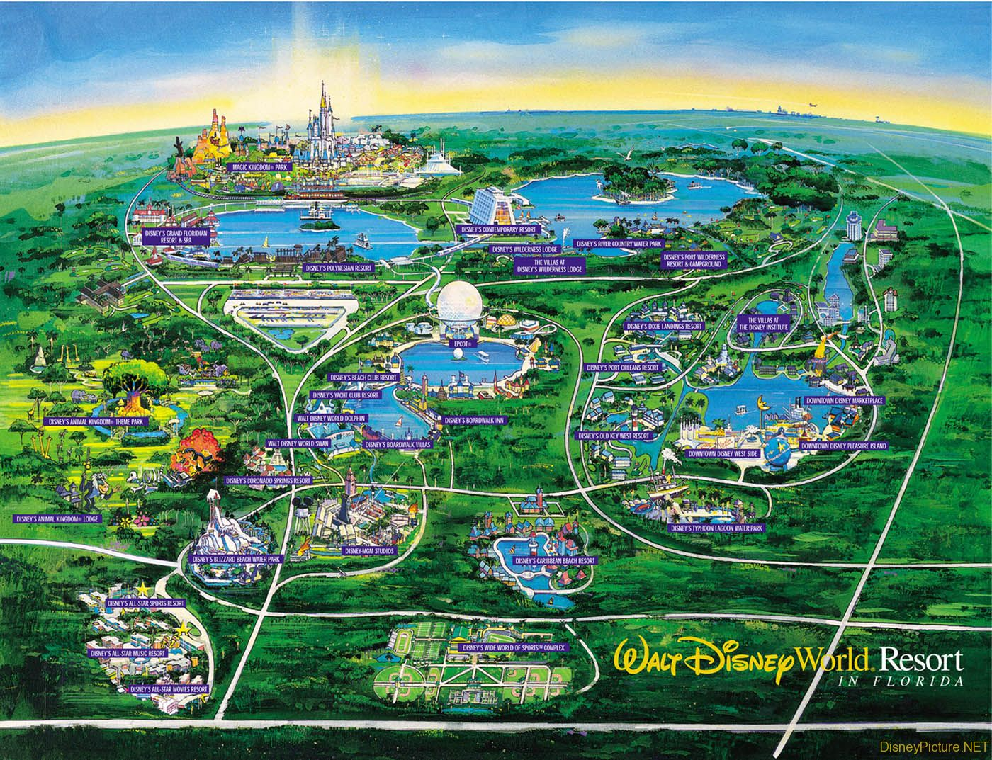 Overall view of Disney Resort