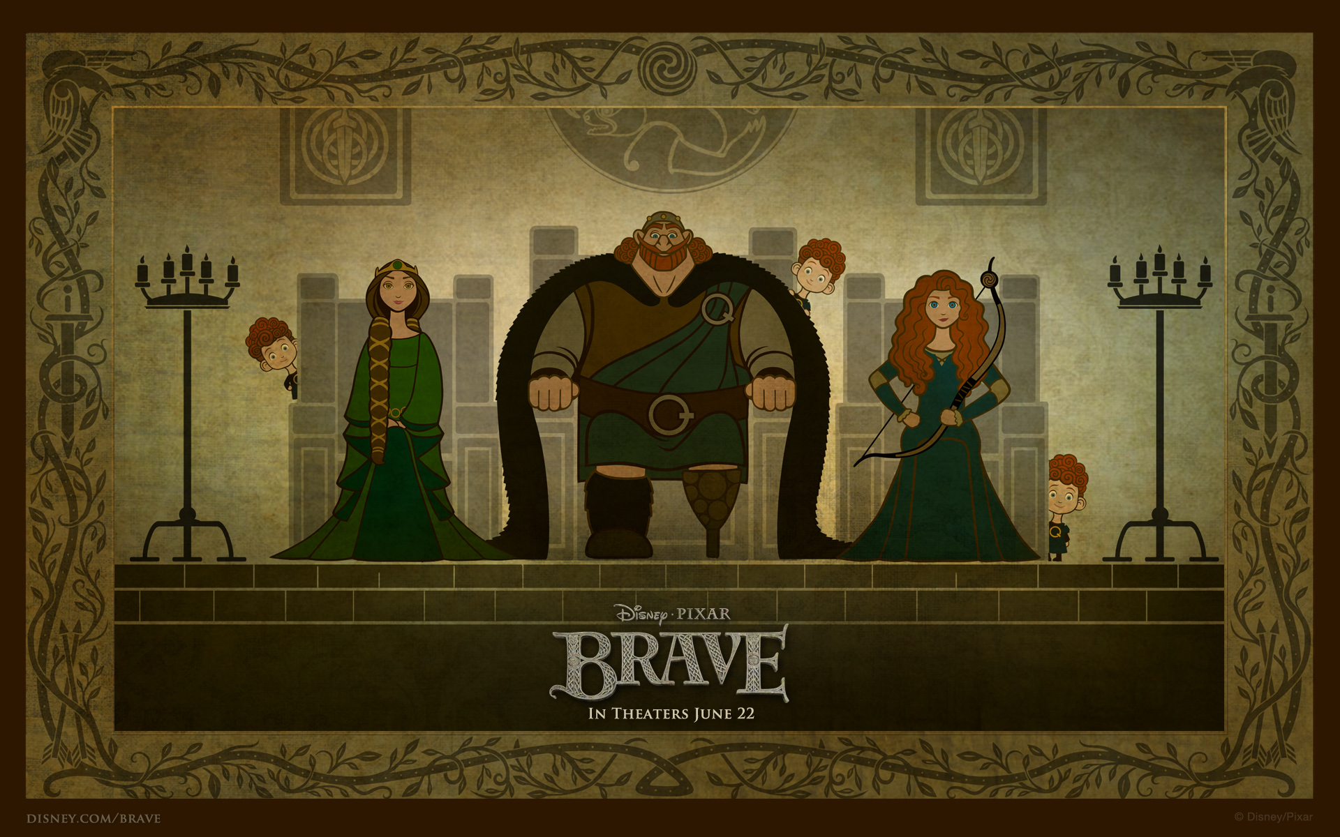 Brave family widescreen