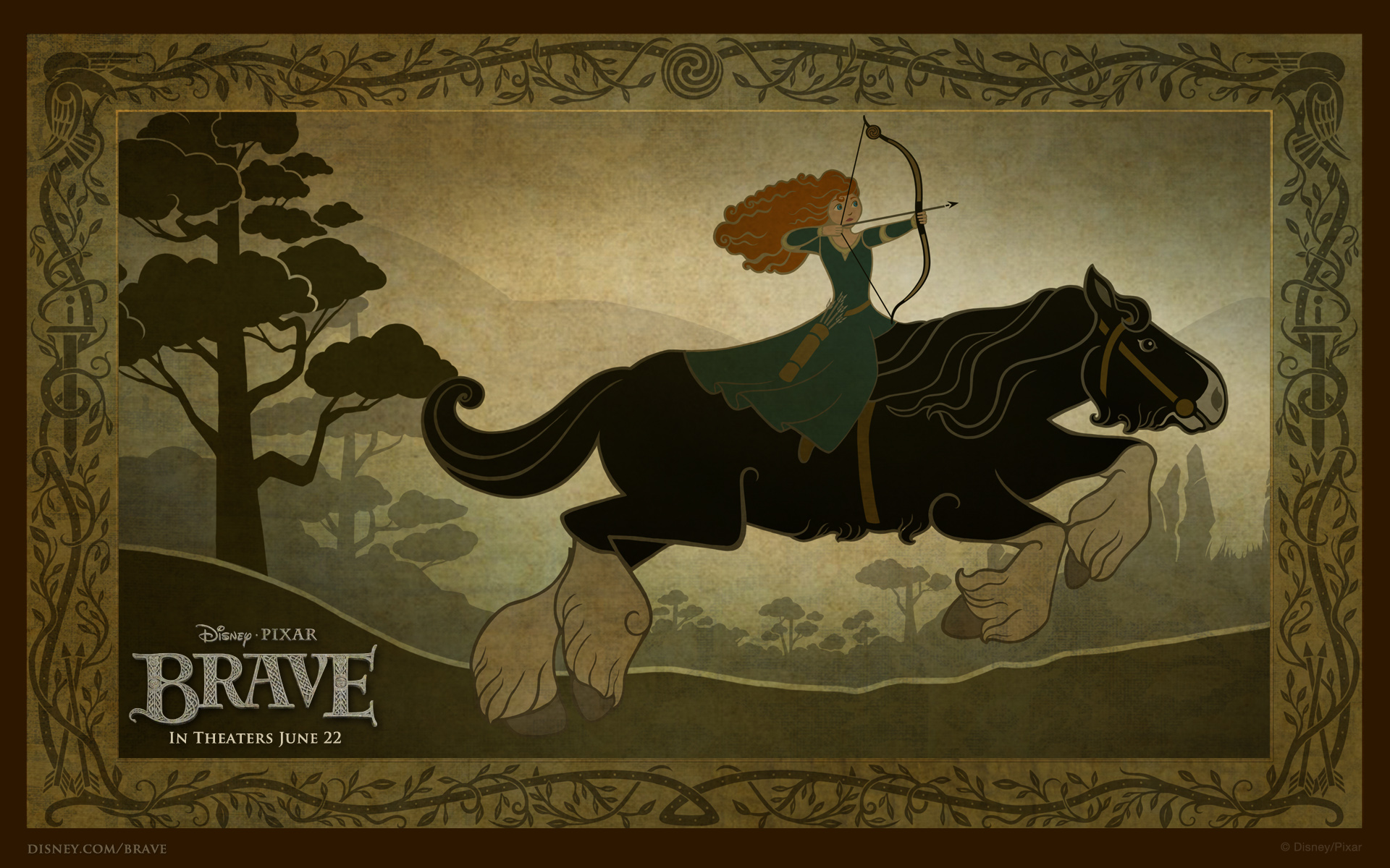 Brave horse back widescreen