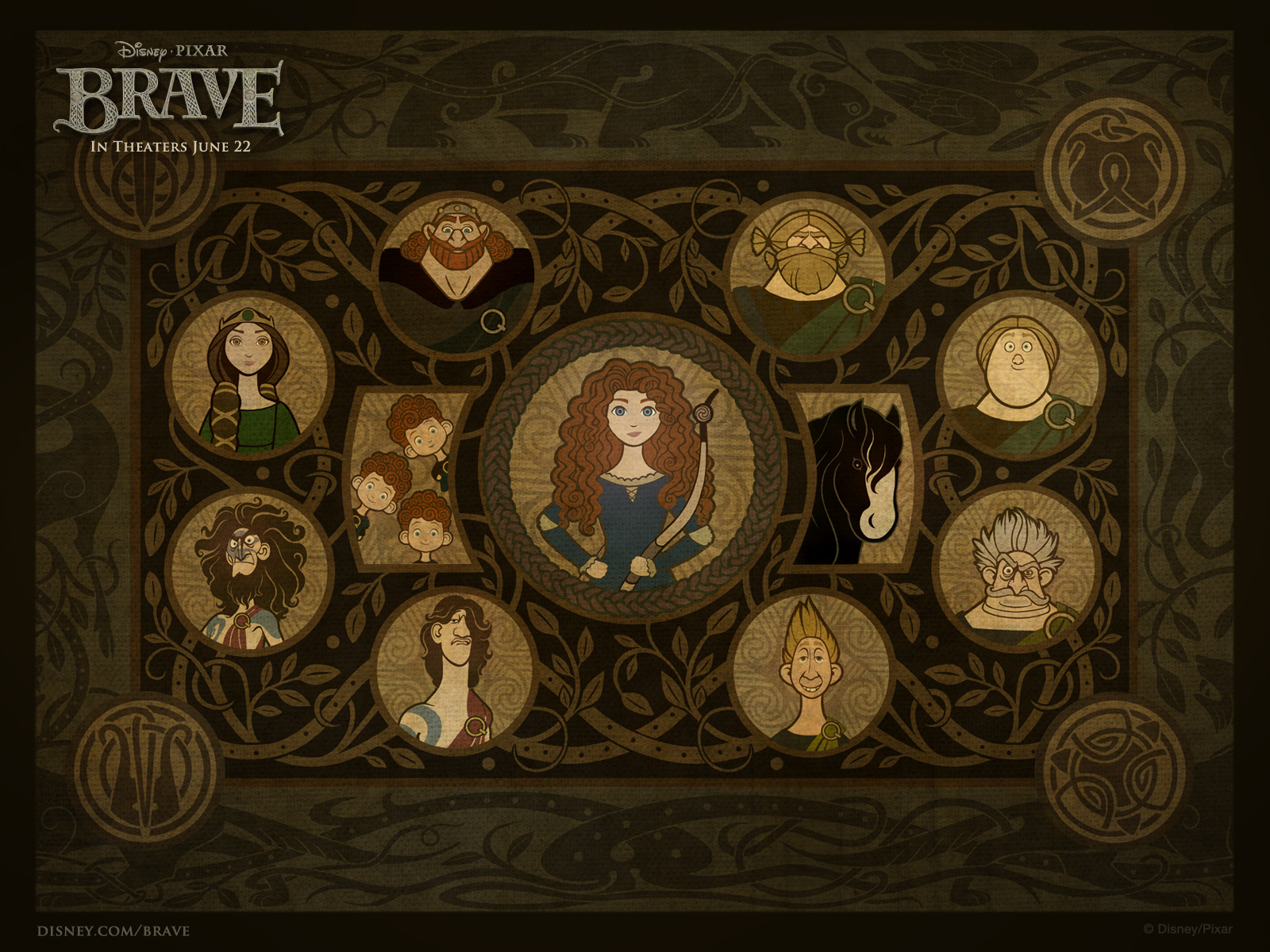 Brave movie characters 1600x1200