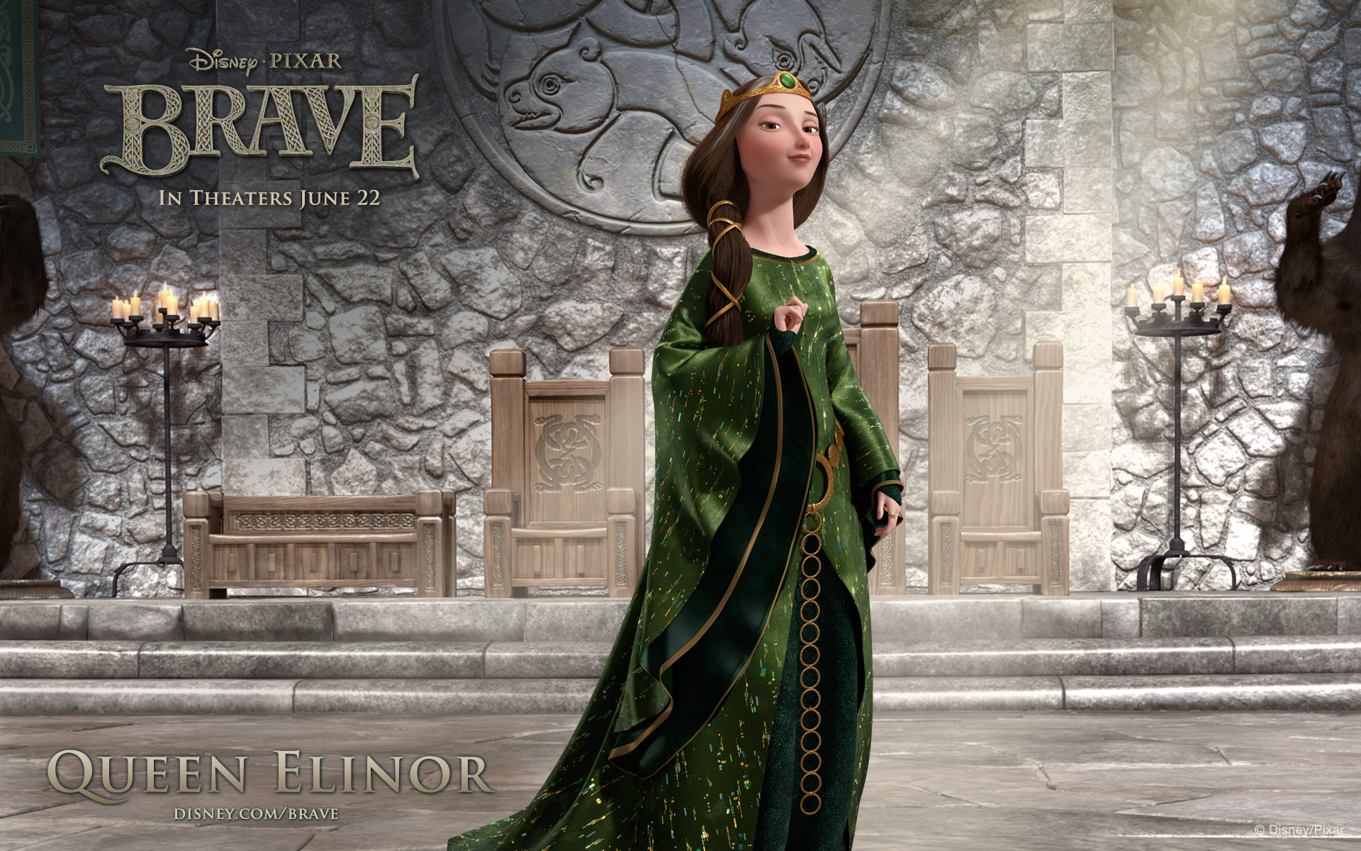 Brave queen elinor widescreen