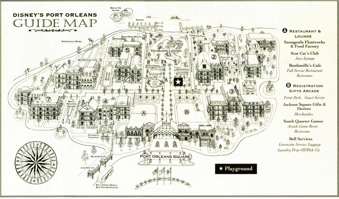 Port Orleans French Quarter map
