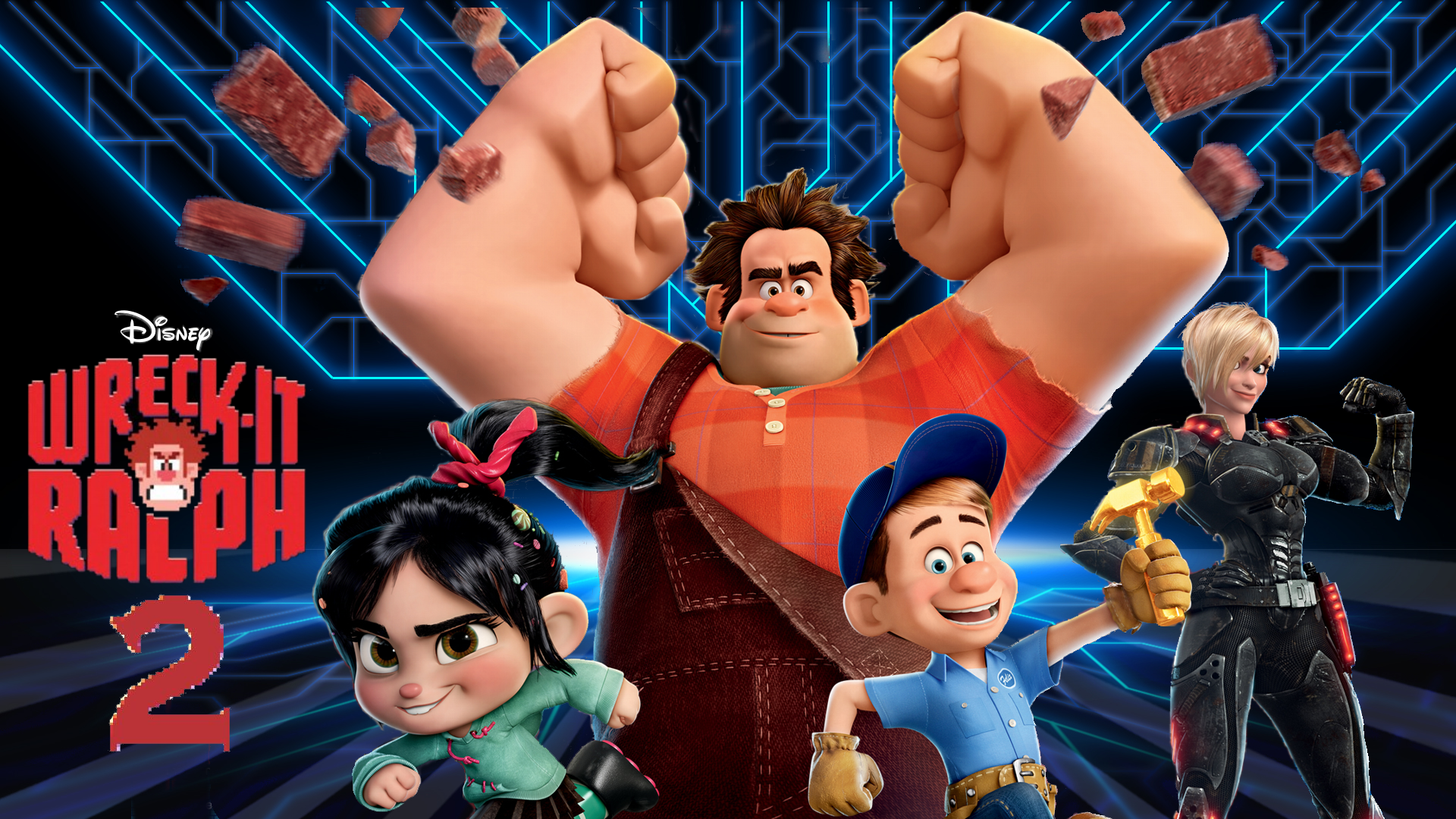 meet the cast of wreck it ralph full movie