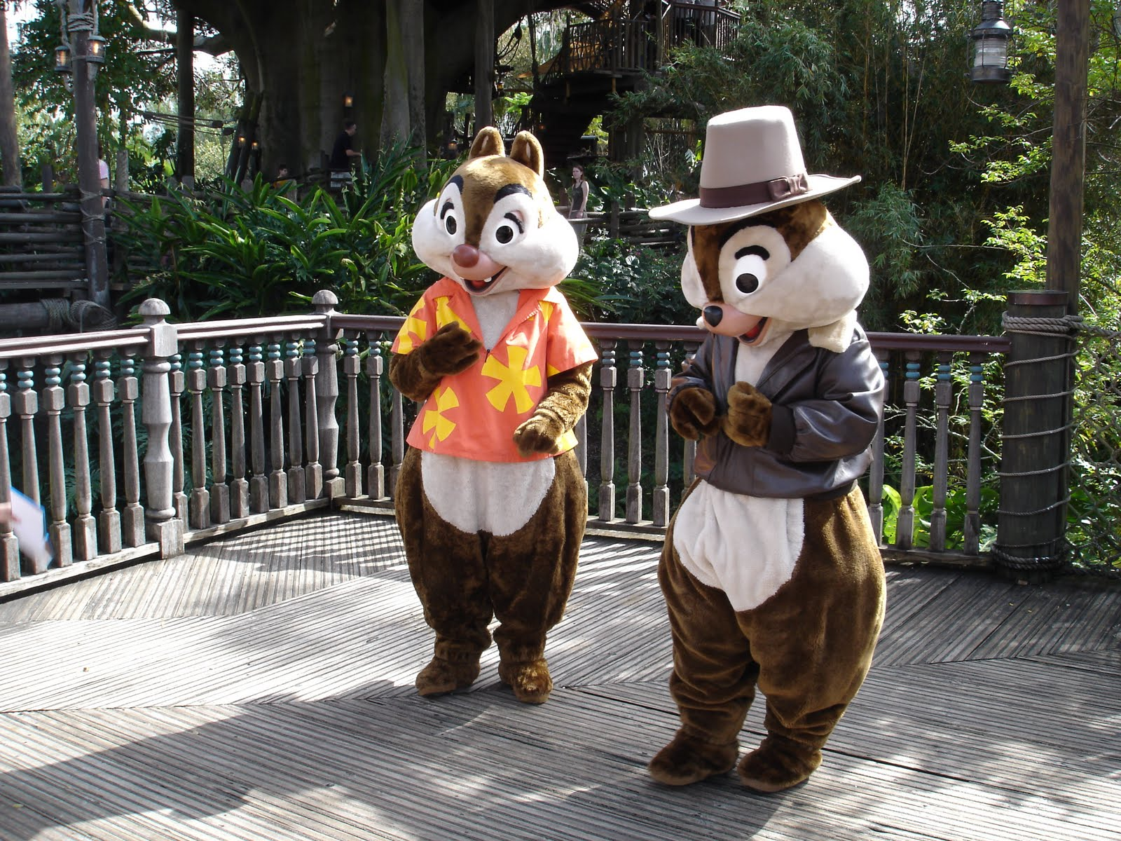chip and dale maskot