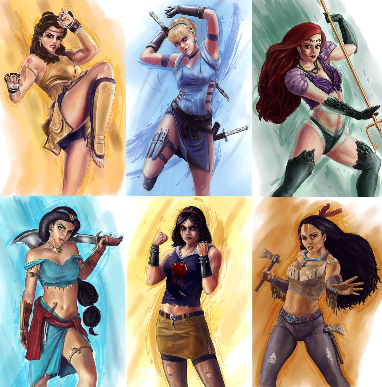 Princess Fighters disney princess