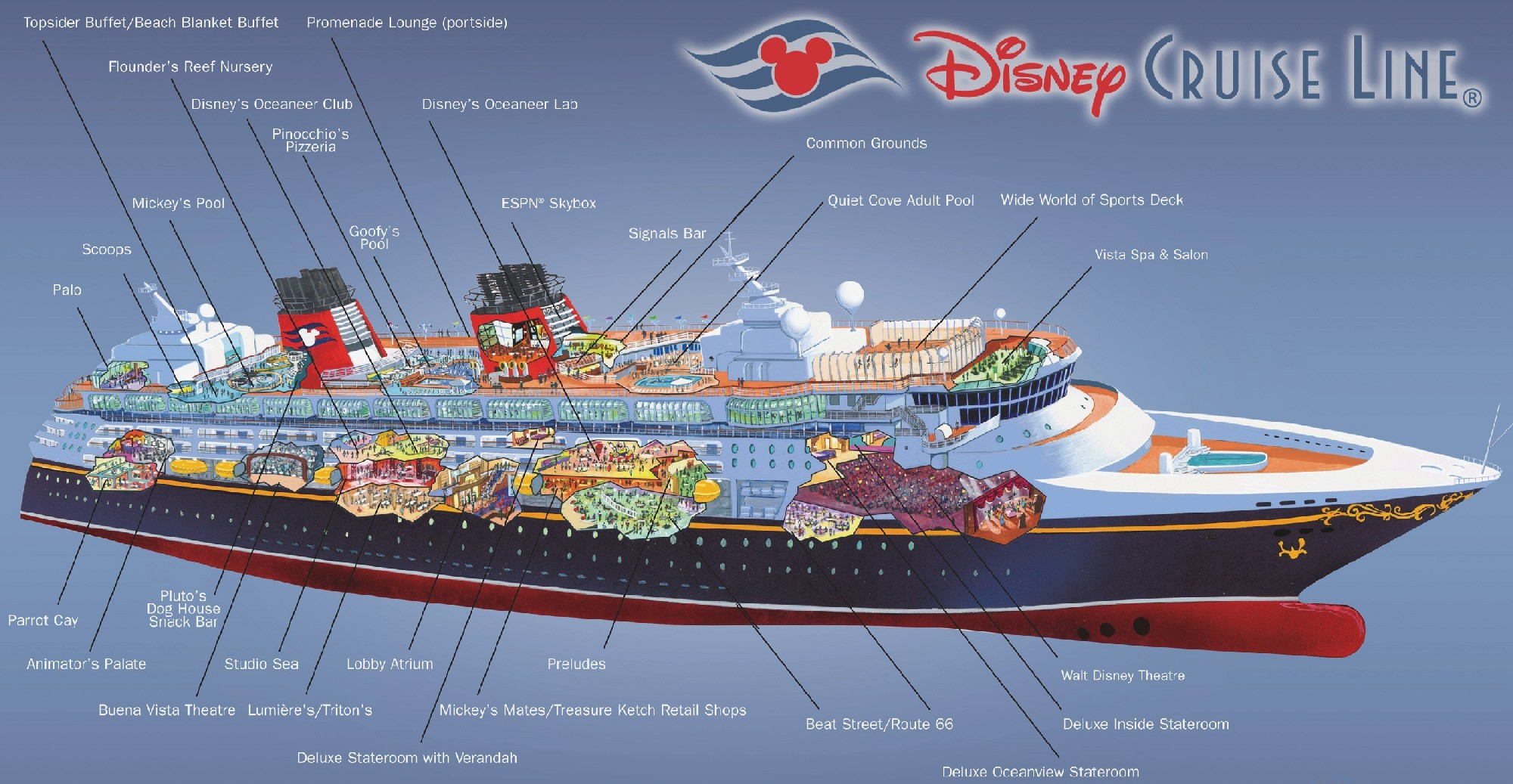 Disney cruise plan picture disney cruise plan image for The world deck plans