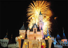disney castle fire works