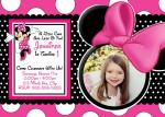 Minnie Mouse invitation card