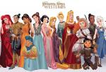 Disney Princesses Game of Thrones Characters